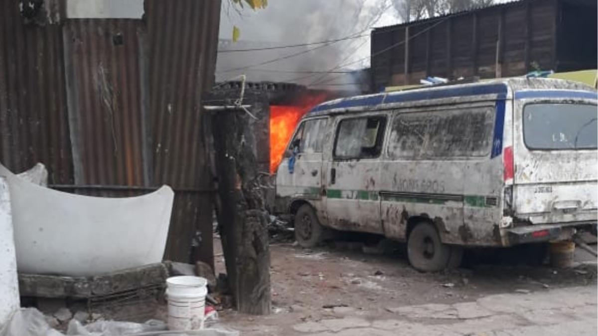 Importante incendio se produjo en una vivienda